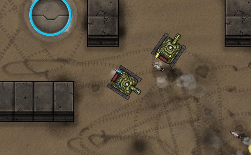 Combat Her skal du overleve ved at skyde de andre tanks inden de skyder dig.
