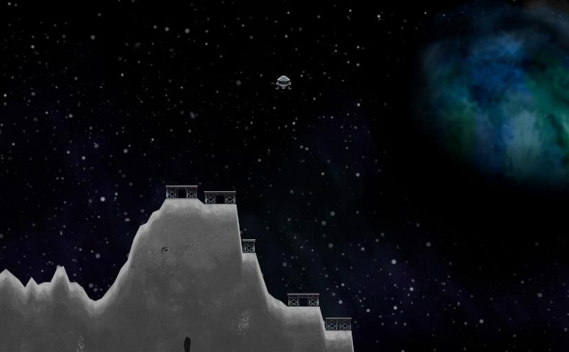 Lunar Lander I lunarlander skal man som titlen indikerer lande et rumskib på en base på månen. Spillet kan også spilles med op til 9 andre spillere, men der er ikke lige så mange landepladser som spillere.
