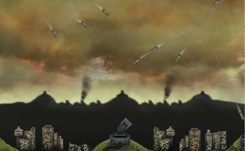 Missile command Missile command er igen et skydespil, hvor man fra jorden skal afværge missilangreb, men spillet udvikler sig efterhånden som man kommer længere frem. Spillet kan spilles online med andre.