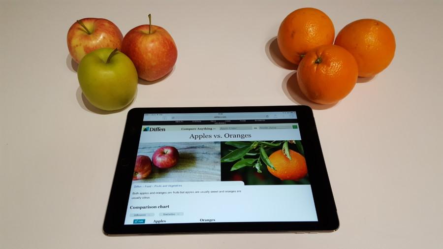 Æbler og appelsiner
